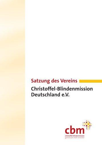 Satzung des Vereins Christoffel-Blindenmission Deutschland e.V.
