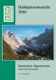 2010 - Deutsche Alpenvereinssektion Berchtesgaden