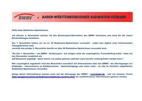 Breitensport-Newsletter 02/2013 - Baden - Württembergischer ...