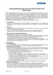 Austragungsbedingungen für die Int. Deutsche Hallen-Trial ... - DMSB