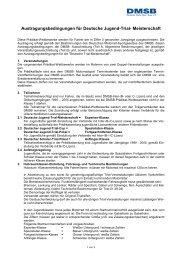 Austragungsbedingungen Deutsche Jugend Trial ... - DMSB