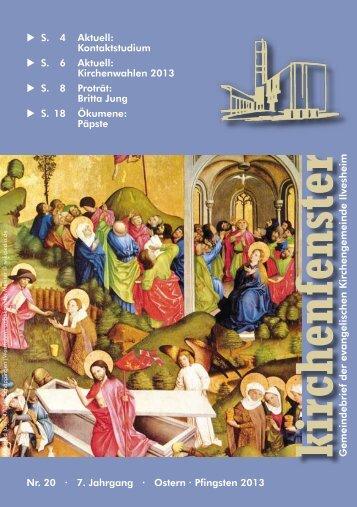 Gemeindebrief Nr. 20 / Ostern/Pfingsten 2013 - Evangelischen ...