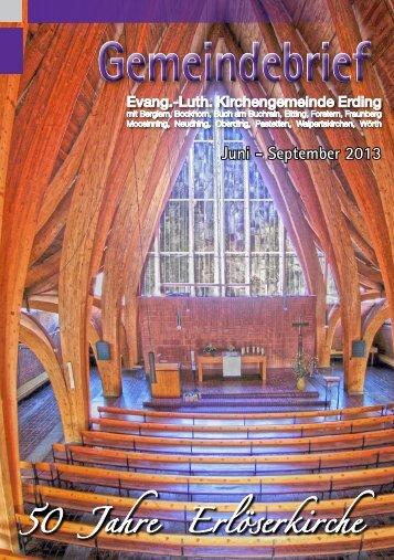 Gemeindebrief - Evang.-Luth. Kirchengemeinde Erding
