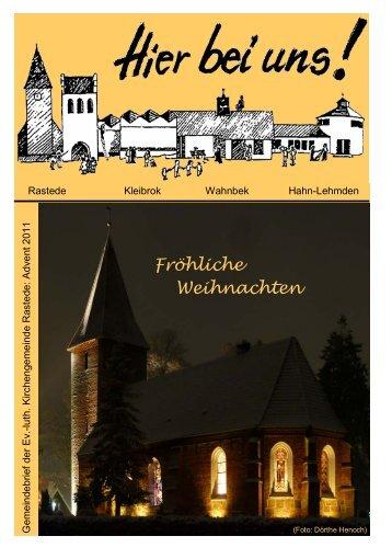 Fröhliche Weihnachten - Ev.-luth. Kirchengemeinde Rastede