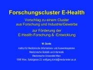 Vorschlag für Forschungscluster E-Health - Initiative-ELGA
