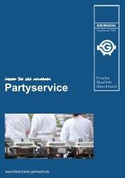Partyservice-Prospekt als PDF-Datei - Fleischerei Grimsehl
