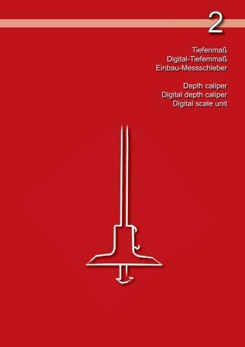 Tiefenmaß Digital-Tiefemmaß Einbau-Messschieber Depth caliper ...