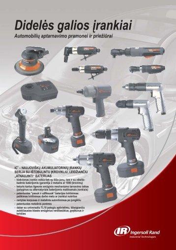 Didelės galios įrankiai - Ingersoll Rand
