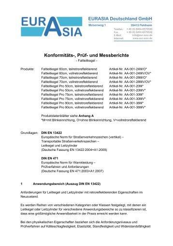 Konformitäts-, Prüf- und Messberichte - Helpi