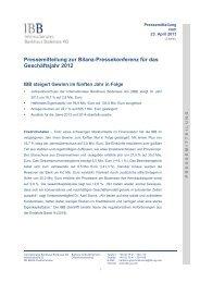 Pressetext Peter Kürn: - IBB - Internationales Bankhaus Bodensee AG