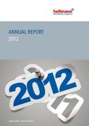 Broschüre Annual Report 2012 - Hellmann Worldwide Logistics