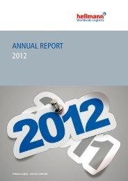 Broschüre Annual Report 2012 - Hellmann Worldwide Logistics