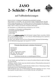 2-Schichtparkett auf Fussbodenheizung - Jaso