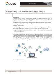 Troubleshooting LANs with Network Statistics Analysis - JDSU