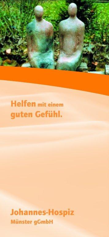 PDF-Download des Unterstützungsflyers - Johannes-Hospiz Münster