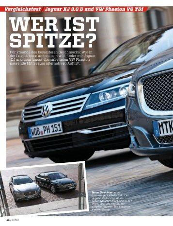 Vergleichstest - Volkswagen AG