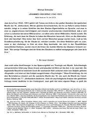 1 Michael Schneider JOHANNES VOM KREUZ (1542 ... - Kath.de