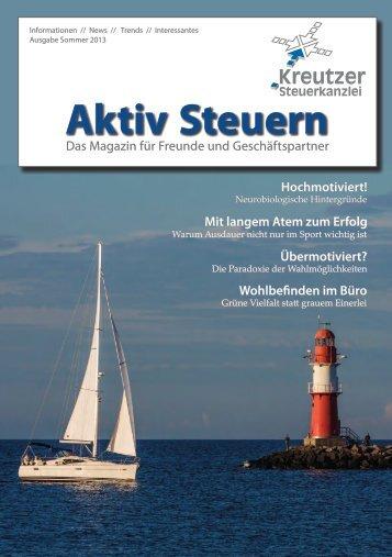 Ausgabe Sommer 2013 - Kreutzer Steuerkanzlei