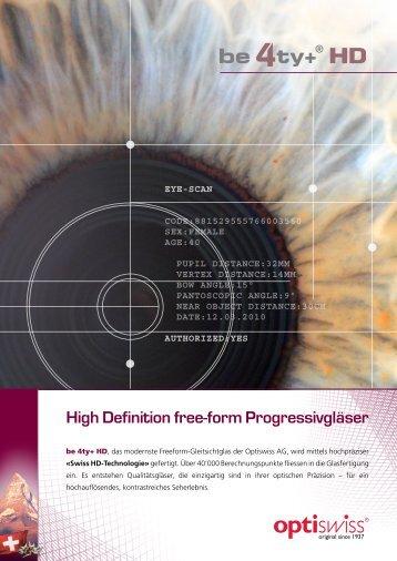 High Definition free-form Progressivgläser - Koch-Optik