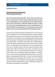 Eine bewegte Geschichte - Kreissparkasse Rhein-Pfalz
