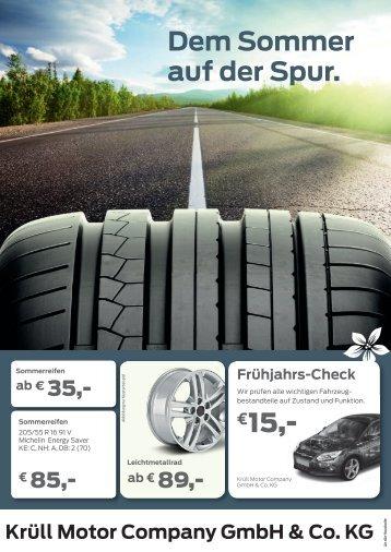 Dem Sommer auf der Spur. €15 - Krüll Motor Company GmbH & Co ...