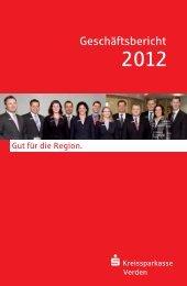 Geschäftsbericht 2012 - Kreissparkasse Verden
