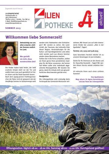 Laden Sie die Kundenzeitung Sommer 2013 als ... - Lilienapotheke