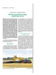 Mit Humusaufbau Erträge langfristig sichern