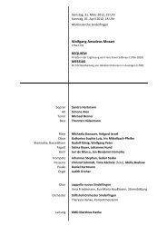 Wolfgang Amadeus Mozart REQUIEM MESSIAS - Evangelische ...