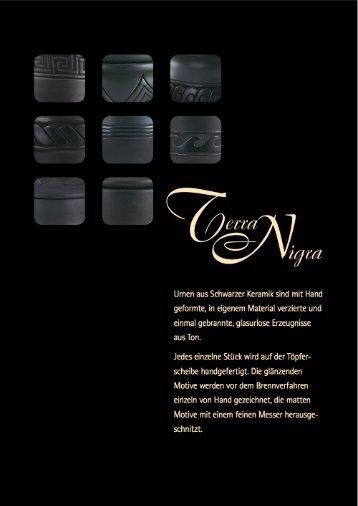 Urnen aus Schwarzer Keramik sind mit Hand geformte, in ... - Max Bail