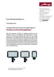 Perfektes Licht bei Bewegtbildern - Metz
