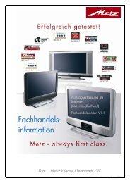 Fachhandels- information - Metz