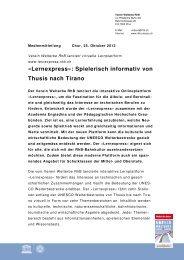 «Lernexpress»: Spielerisch informativ von Thusis nach Tirano - RhB