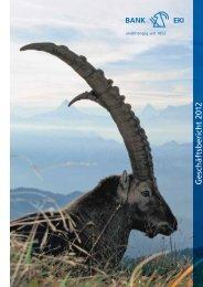 Geschäftsbericht 2012 - Bank EKI