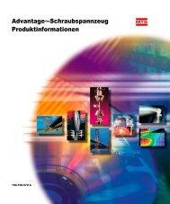 Advantage™-Schraubspannzeug Produktinformationen - MTS