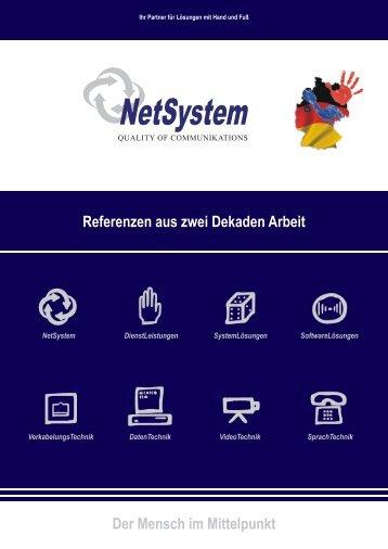 Referenzen aus zwei Dekaden Arbeit Der Mensch im ... - NetSystem
