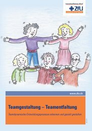 Teamgestaltung – Teamentfaltung - ZfU International Business School