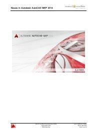 Neues in Autodesk AutoCAD MEP 2014 - Mensch und Maschine
