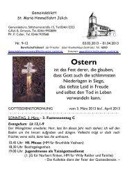 Gemeindeblatt 9-12/2013 - Propsteipfarrgemeinde St. Mariä ...