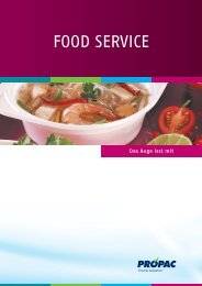 FOOD SERVICE - Pro-Pac
