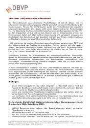 Aktueller Stand - Österreichischer Bundesverband für Psychotherapie