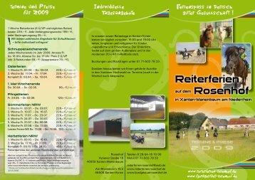 Reiterferien Rosenhof