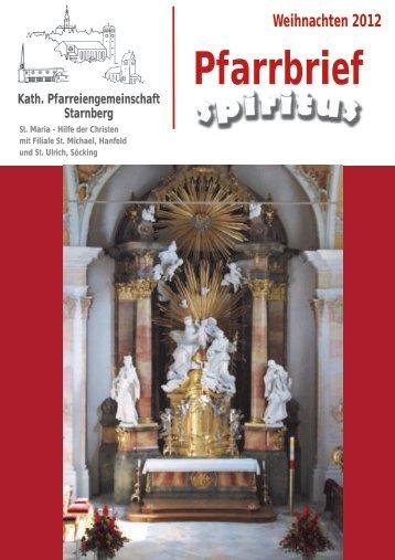 Weihnachten 2012 - Pfarrei Starnberg