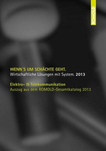 Katalog Elektro- & Telekommunikation 2013 - Romold