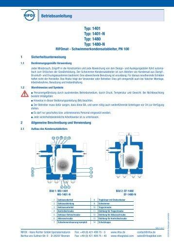 Betriebsanleitung - Rifox-Hans Richter GmbH