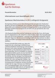 Informationen zum Geschäftsjahr 2012 - Sparkasse Bottrop