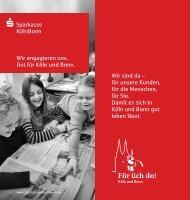 Wir engagieren uns - Sparkasse KölnBonn