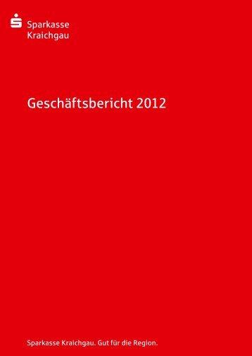 Geschäftsbericht 2012 - Sparkasse Kraichgau