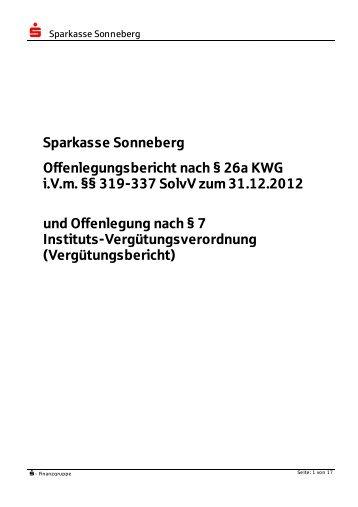 Offenlegungsbericht - Sparkasse Sonneberg