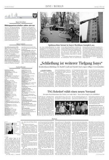 """Schließung ist weiterer Tiefgang Isnys"" - Stephanuswerk Isny"